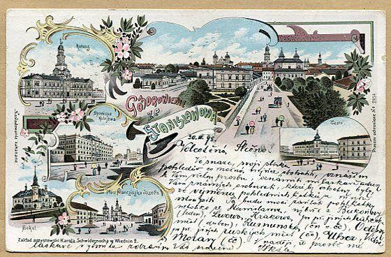 STANISŁAWÓW - Pozdrowienie ze Stanisławowa - 1898