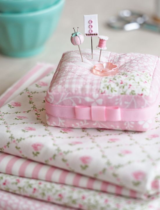 Pretty by Hand - pink pincushion