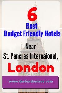 Top 6 Budget Friendly Hotels Near St. Pancras International, London, Eurostar, Europe, Budget Hotels, France, European Union