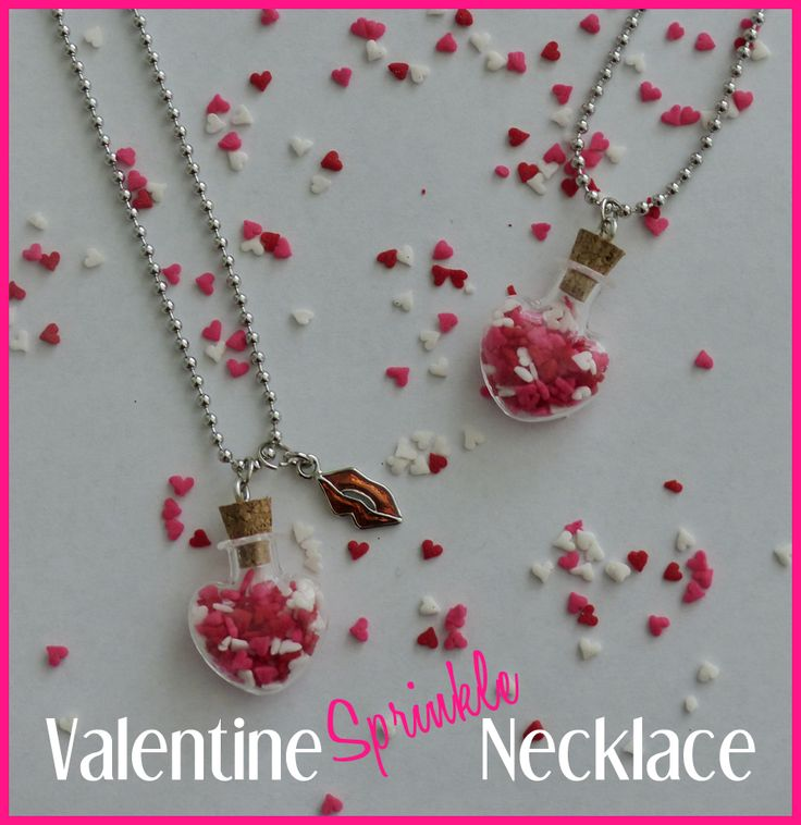Cute and simple Valentine's necklace.  Great DIY Valentines gift idea.  Perfect for mom's, kids, friends and more.
