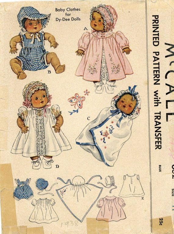 Vintage Doll Clothes PATTERN 632 for 15  Dy Dee by BlondiesSpot