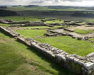 Housesteads Fort along Hadrian's Wall  So amazing.  So glad we got to see it.