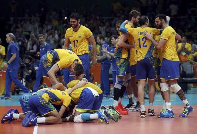 Brasil x Rússia semifinal vôlei masculino Rio 2016 (Foto: Ricardo…