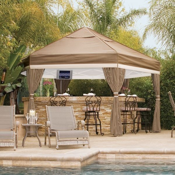Pool and patio decorating ideas on a budget gazebos for Pool design with gazebo