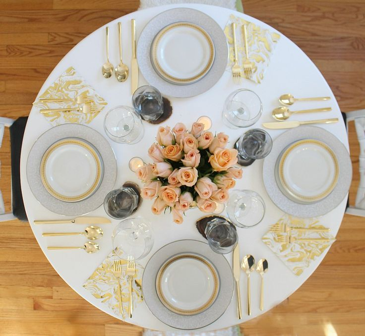 Glam Dinner Table - BLISS AT HOME
