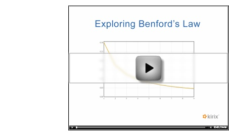 Fraud and Benford's Law.