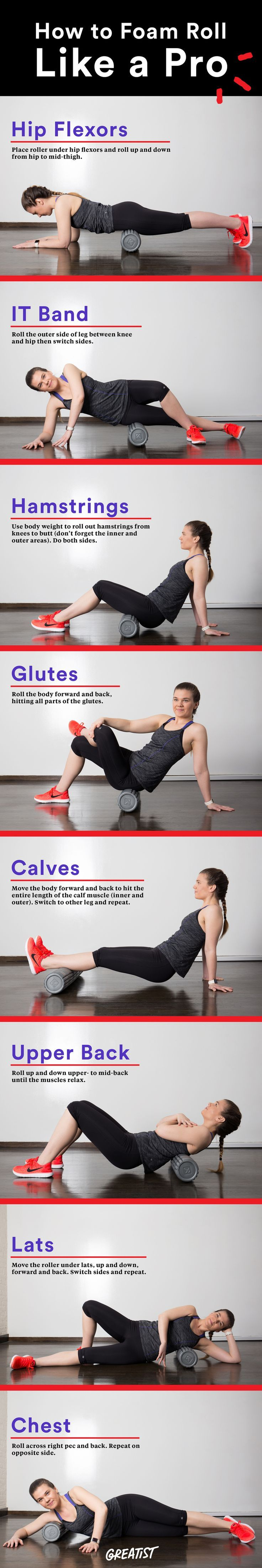 Want to improve flexibility, performance, and reduce injuries? Get to know the foam roller. #fitness http://greatist.com/fitness/how-foam-roll-pro