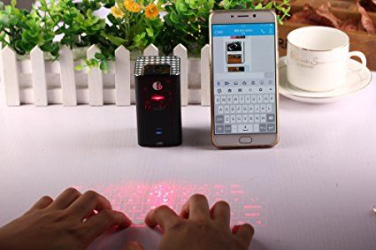 AGS Laser Projection Keyboard - a keyboard in your pocket. With laser projection, speaker and microphone, this little gadget has it all #travel keyboard bluetooth