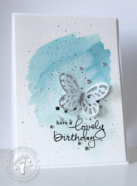 Watercolor 'Lovely Birthday'!