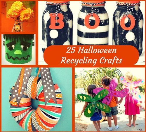 Find out how to turn trash into treasure with this Go Green for Halloween: 25 Halloween Recycling Crafts collection!