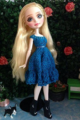 Outfits for Ever After High, Crochet Doll Dress Mdmtn http://www.amazon.com/dp/B00MJVJNKQ/ref=cm_sw_r_pi_dp_8hF-vb1QSY98A