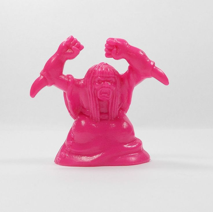 Monster In My Pocket - Series 2 - 63 Elbow Witch - Neon Magenta - Mini Figure