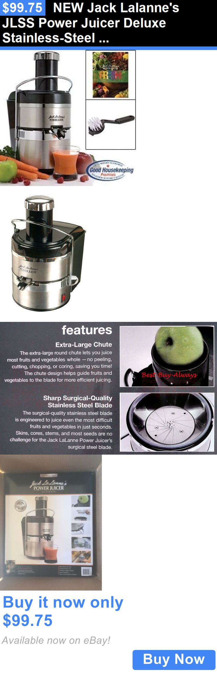 appliances: New Jack Lalannes Jlss Power Juicer Deluxe Stainless-Steel Electric Juicer BUY IT NOW ONLY: $99.75