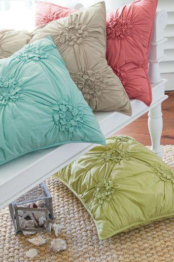Bella Smocked Sham - Pillow Shams, Bedding, Home Decor   Soft Surroundings