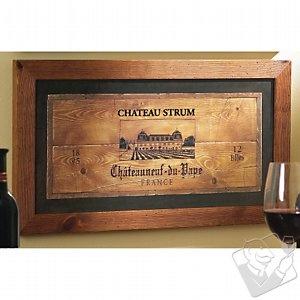 wine crate furniture. framed wine crate panel furniture