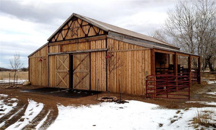 Rustic Old Western style Pole Barn, Specialty Barns, Custom made Barn, Pole Barns, Antique look