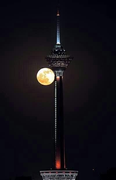 Milad Tower, Tehran, Iran.