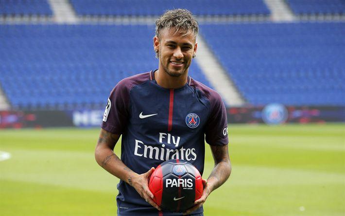 Download wallpapers Neymar JR, 4K, Football, Paris Saint-Germain, France, PSG, France League 1, Brazilian football player