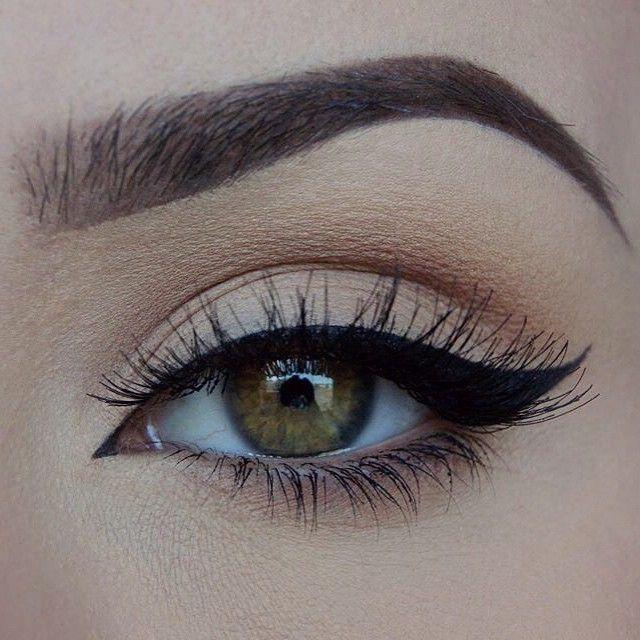 Everyday look ||  @ardell_lashes in Wispies @inglot_cosmetics Matte Eyeshadow in 357 @maybelline Lasting Drama gel liner in 01 Intense Black @anastasiabeverlyhills Dipbrow in Dark Brown