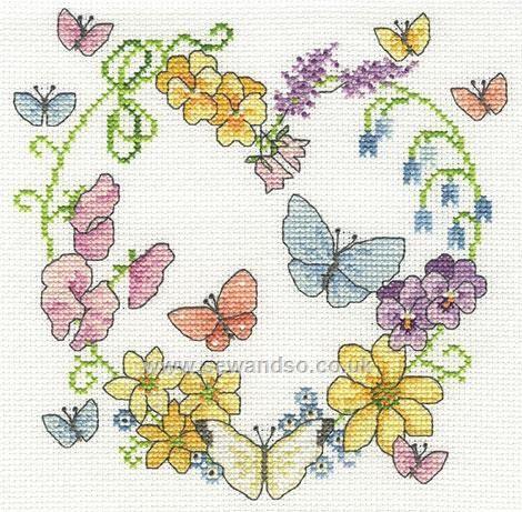 Buy+Butterflies+in+Bloom+Cross+Stitch+Kit+Online+at+www.sewandso.co.uk