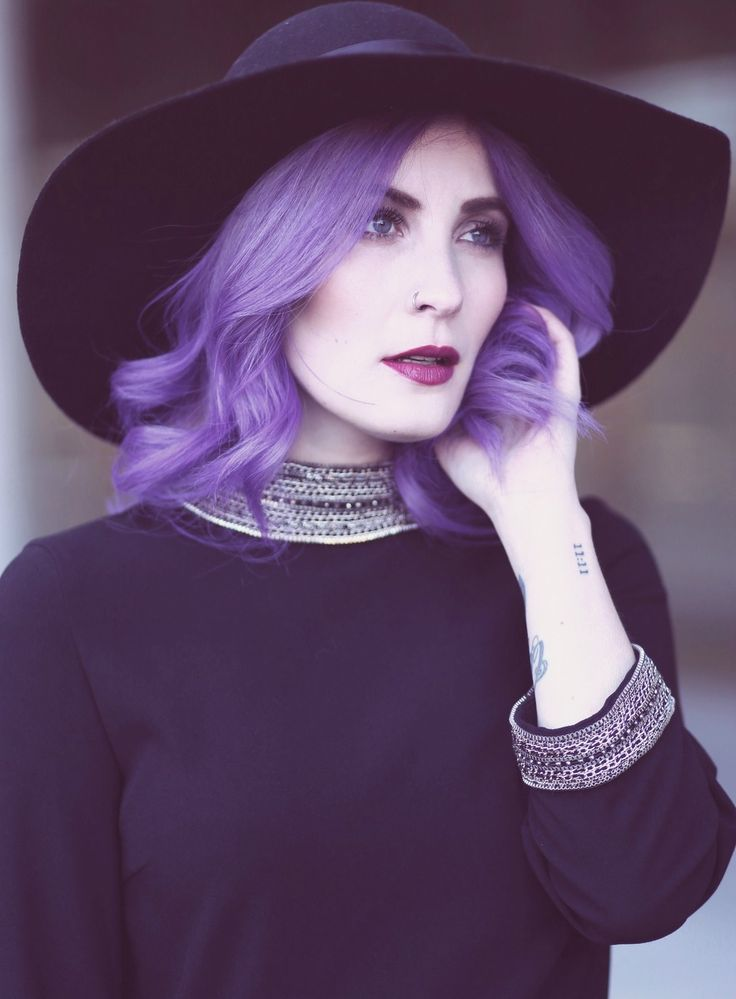 Purple Hair in everyday life - how to style it. Directions Lavender, Colorful Hair, Violet Hair, Crazy Hair Colors, Directions Violet