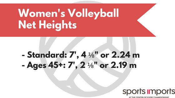 Women's Volleyball Net Heights