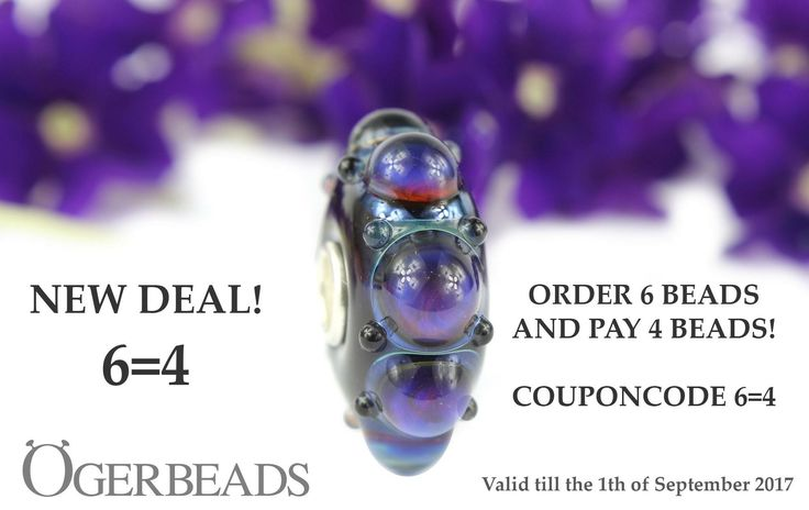 The new deal 6=4 is available at www.ogerbeads.com