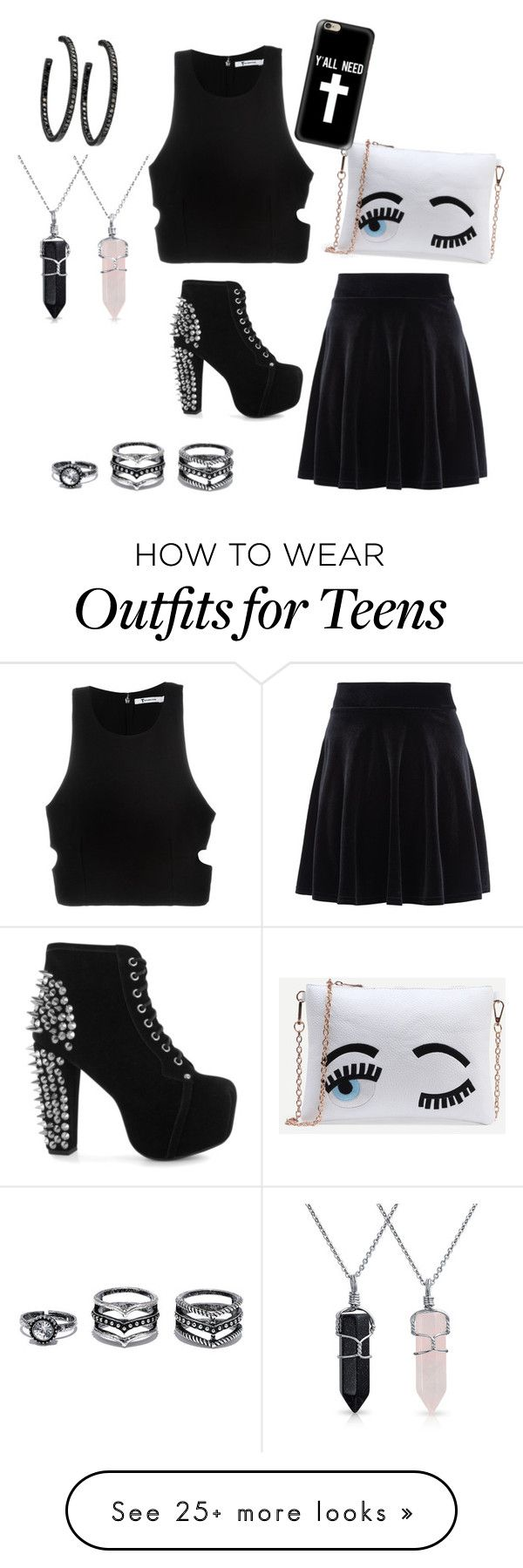 """""""Untitled #55"""" by blueisbae2015 on Polyvore featuring T By Alexander Wang, Jeffrey Campbell, New Look, Bling Jewelry, LULUS and Casetify"""