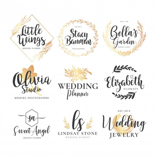 Download Wedding Logo Collection For Free Wedding Logos Logo Collection Vector Free