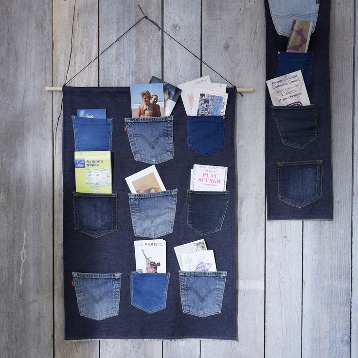 Vide poche en jeans id es d co z dio - Vide poche mural plastique ...