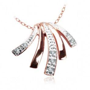 Złoty wisiorek z diamentami - modern - Biżuteria srebrna dla każdego tania w sklepie internetowym Silvea