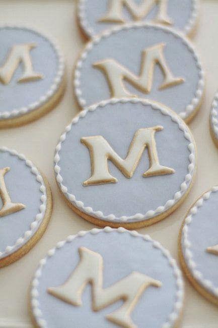 galletas fondant con iniciales - Buscar con Google