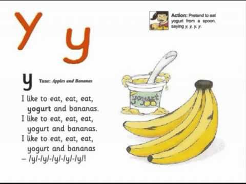 JOLLY PHONICS y song from Read Australia - Having FUN with phonics