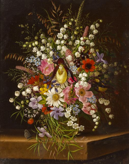 Girl In Flowers Wallpaper As Cores Da Arte Maria Adelheid Dietrich Vir 225 Gok