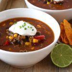 Mexicaanse chili con carne soep - Vertruffelijk