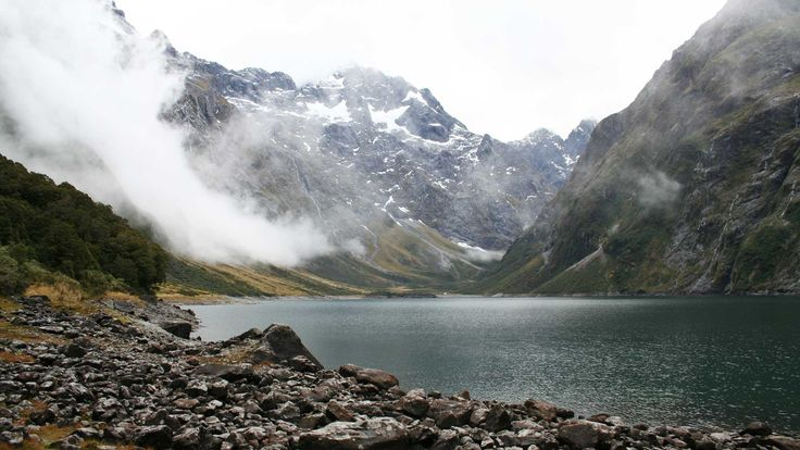 Enjoy this tramping track from Hollyford Road (off Milford Road) to beautiful Lake Marian - an alpine lake in a beautiful hanging valley.