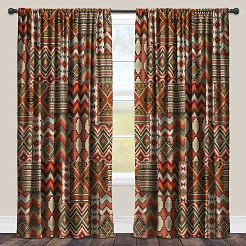 Amazon.com: Single Panel Southwestern Window Curtain, Casual Rustic Style, 84 Inch Blackout Single Panel, Rod Pocket, Room-darkening Curtain, Multi Color Geometric Design for Master Bedrooms, Polyester Material: Home & Kitchen