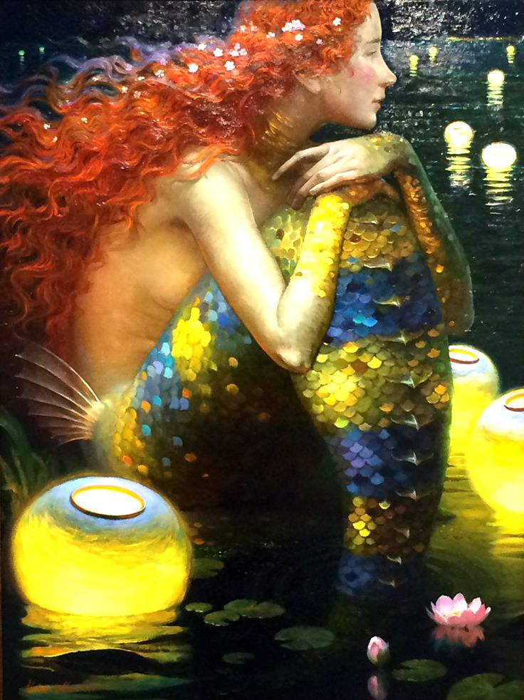 """Awaiting her beloved"" oil painting by Victor Nizovtsev displayed at Stravitz Sculpture Studio and Fine Art Gallery on Laskin Road, Virginia Beach"