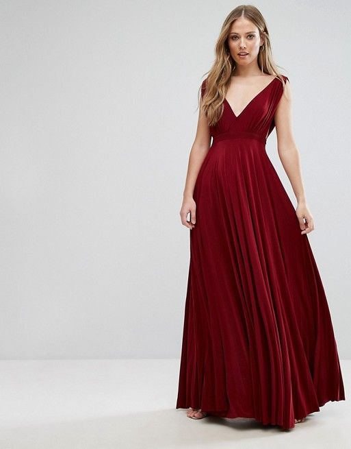 Pleated maxi dress by jovonna grayson