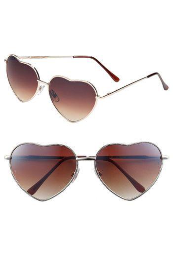 everyone needs heart shaped sunglasses