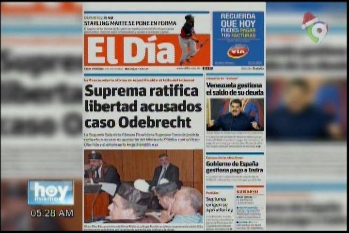 Portada De Los Periódicos Del Día De Hoy: Rondón Y Rúa Pa' La Calle