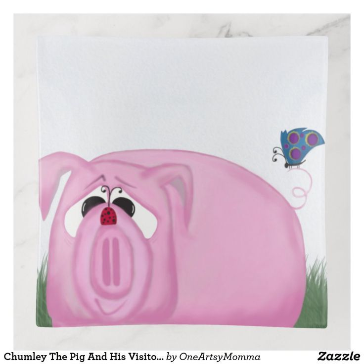 Chumley The Pig And His Visitors Trinket Trays   Zazzle ...