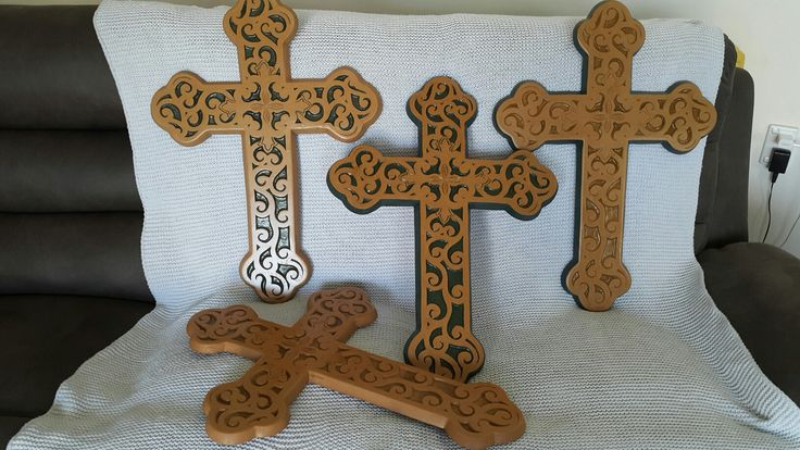Different types of colour and sides of crosses