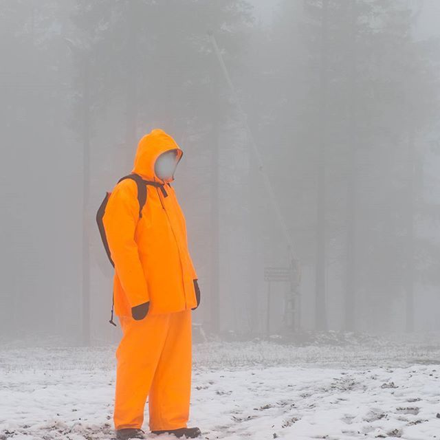 #fog #winter #friesennerz #regndress #rainsuit #outdoor #trip #tryvann #oslo #norway #doggerbank #ålesund #yellow #rubber #working #workwear #arbeidsklær #comfortable