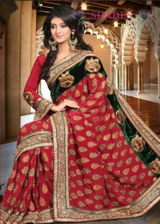 We have with us a complete collection of #Bridal #Sarees, which is highly appreciated for their intricate detailing@ http://www.shadesandyou.com/product-category/sarees/