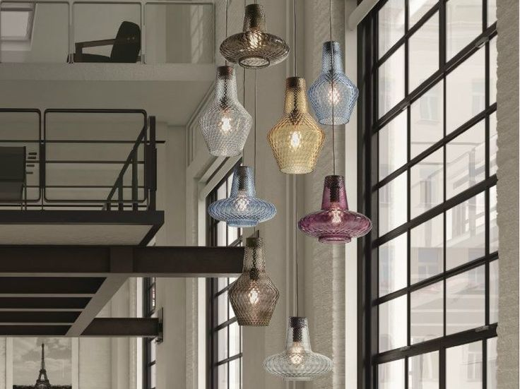 Lampada a sospensione in vetro soffiato ROMEO E GIULIETTA by FEDERICOdeMAJO design Federico de Majo