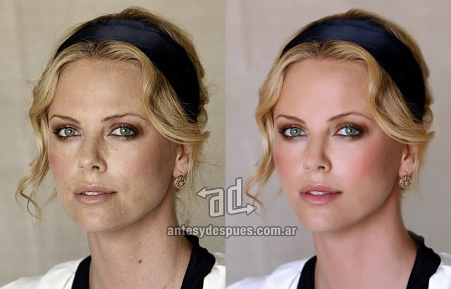 Charlize Theron without Photoshop