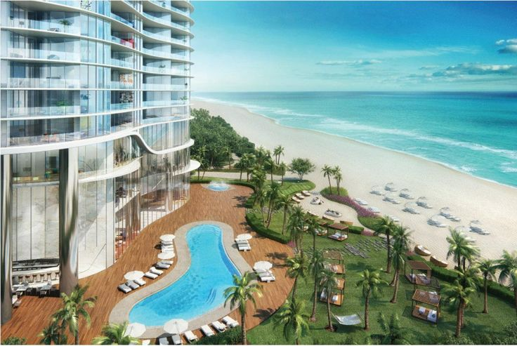 Ritz-Carlton Sunny Isles Beach of Miami Beach, the area in front of the Ocean. #interdema #hotel #luxuryhotel #design #architecture #RitzCarlton #Miamibeach #люкс #люксотель #гостиница #отель #дизайн #архитектура