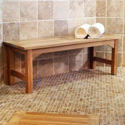 Waterproof Teak Backless Bench 4ft Bathroom Bench Teak