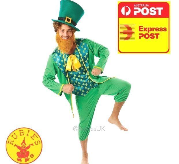Men/'s Leprechaun Top Hat /& Beard St Paddy/'s Day Ireland Stag Fancy Dress Fun
